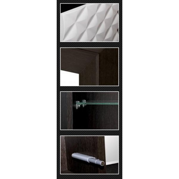 Тумба с раковиной Style Line Агат 76 белая/венге