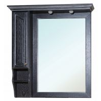 Зеркало-шкаф Рим 100 L (черное патина серебро)