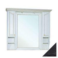Зеркало-шкаф Рим 120 черное патина серебро