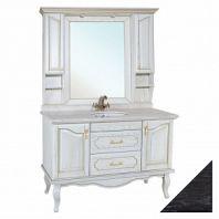 Мебель для ванной Рим 120 черная патина серебро