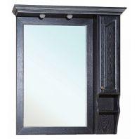 Зеркало-шкаф Рим 100 R (черное патина серебро)