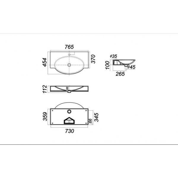 Тумба Style Line Кантри 76 с раковиной Sanita Luxe инфинити