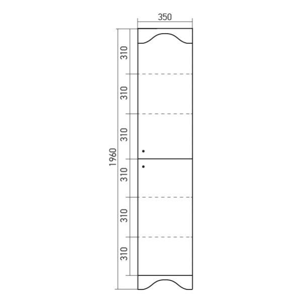 Пенал Mixline Крит-35 патина серебро