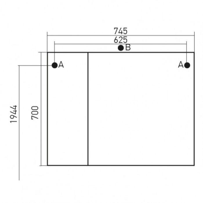 Шкаф навесной Mixline Ассоль 75  (ПВХ)