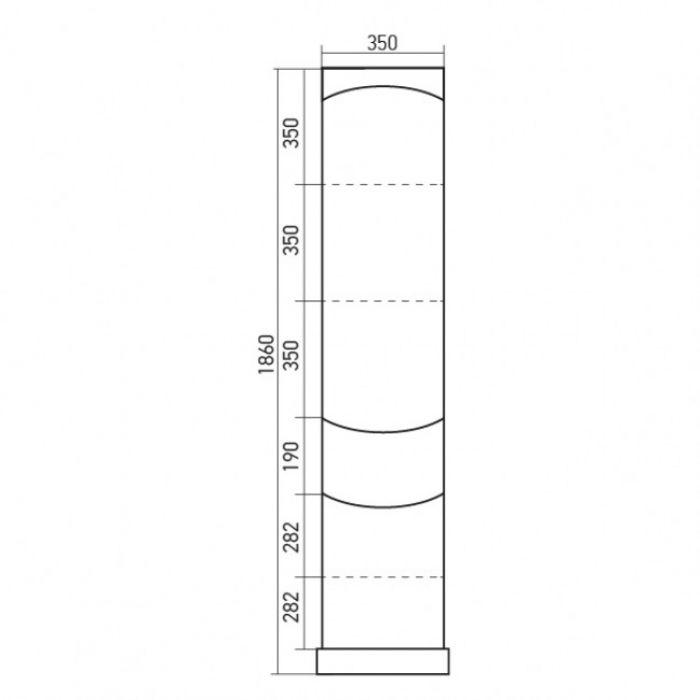 Пенал Mixline Рандеву 35 стеклянная створка