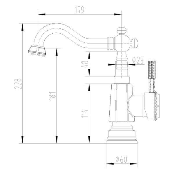 Смеситель Lemark Jasmine LM6604ORB для кухонной мойки