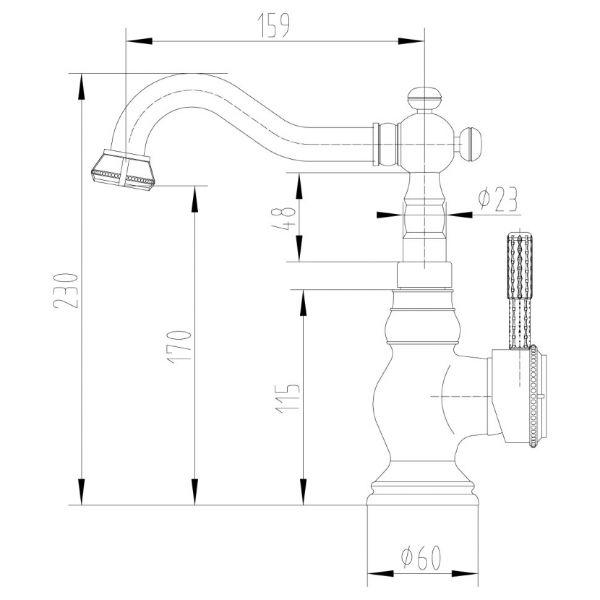 Смеситель Lemark Jasmine LM6644ORB для кухонной мойки