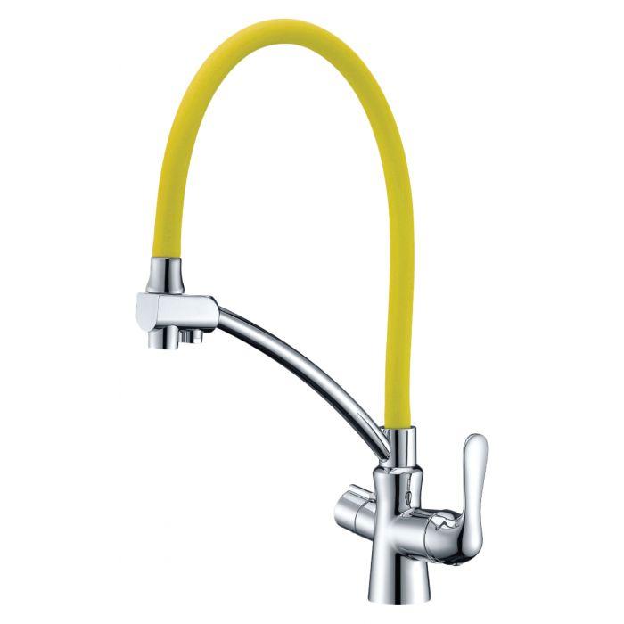 Смеситель Lemark Comfort LM3070C-Yellow для кухонной мойки