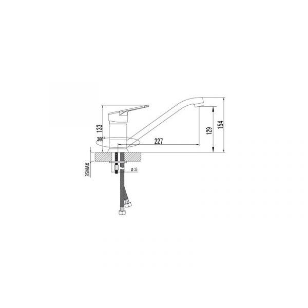 Смеситель Lemark Luna LM4104C для кухонной мойки