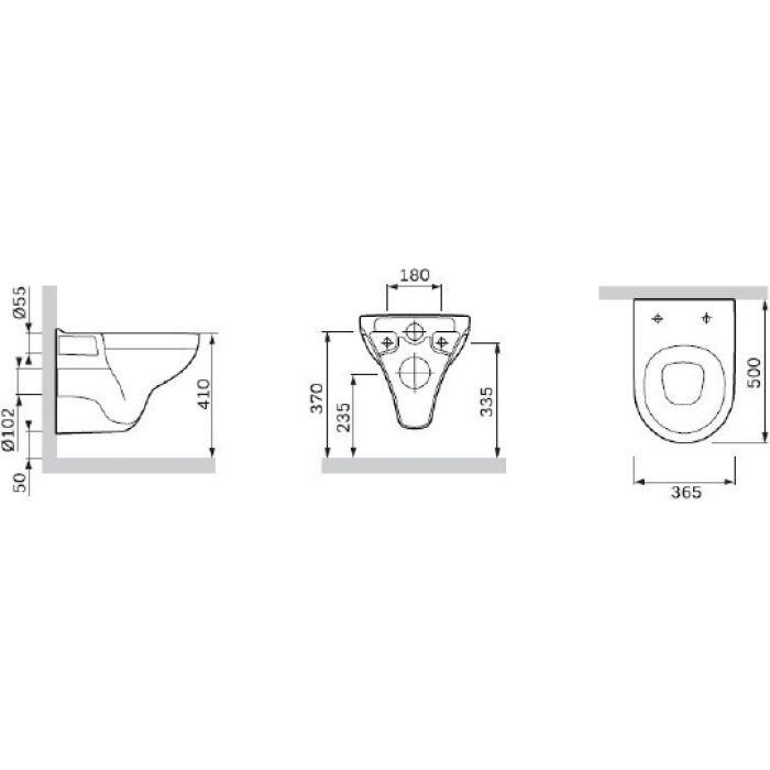 Унитаз подвесной Am.Pm Gem C901738SC с микролифтом