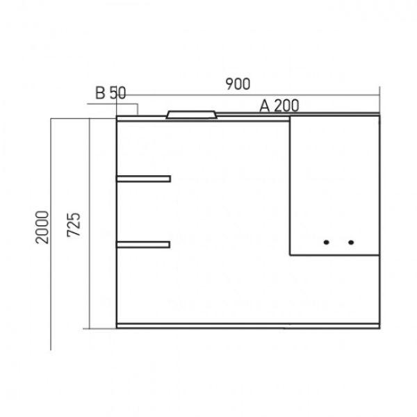Шкаф навесной Mixline Этьен 90 (ПВХ)