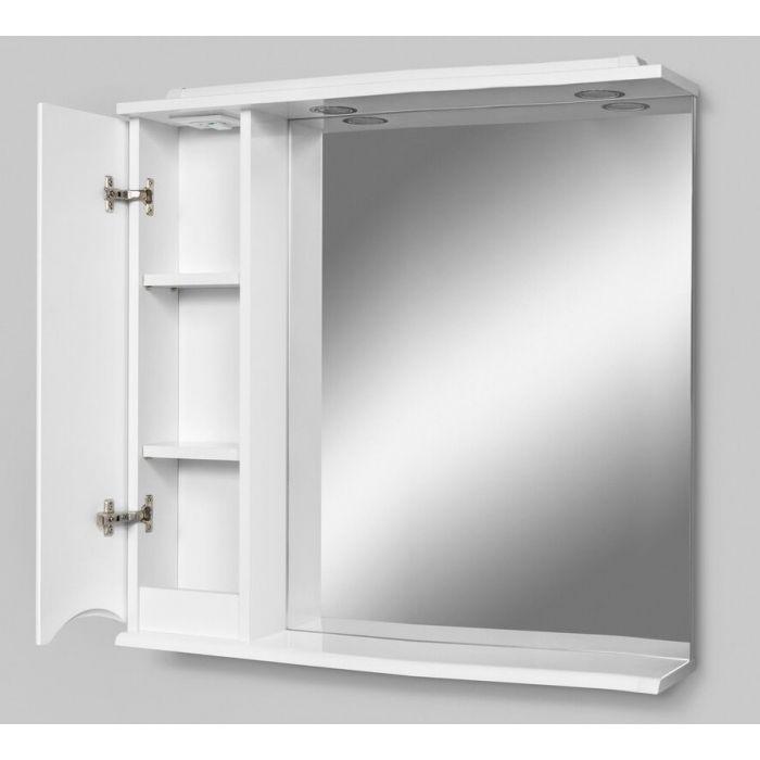 Зеркало-шкаф Am.Pm Like 80,белый глянец/венге