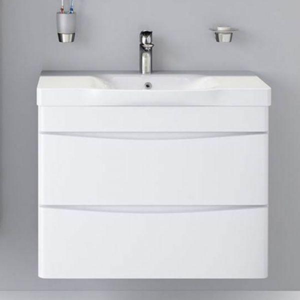 Комплекты  для ванной Am.Pm Like 80 подвесная,белый глянец/венге
