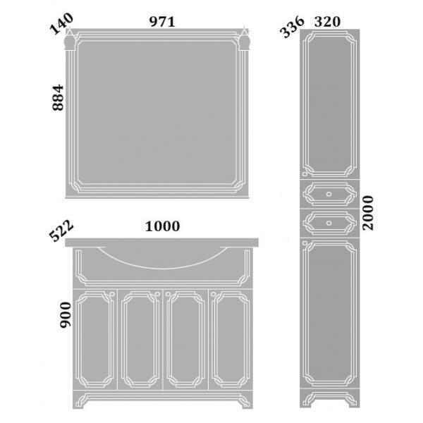 Комплект мебели Sanflor Каир 100
