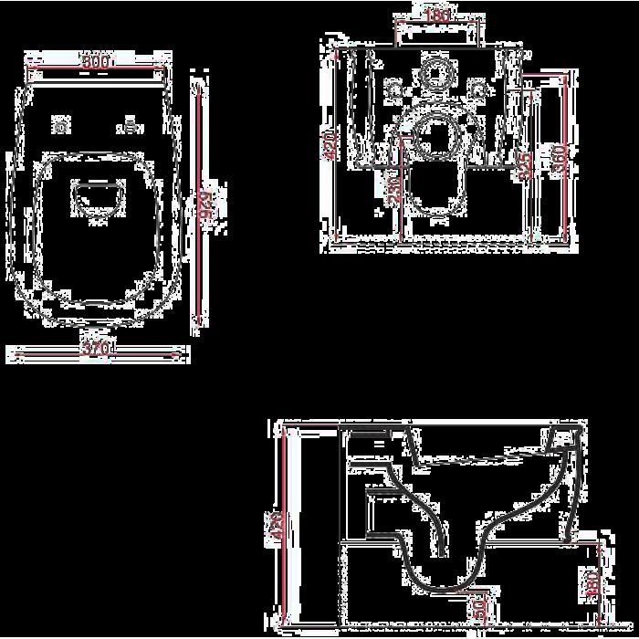 Унитаз ArtCeram Azuley подвесной AZV001