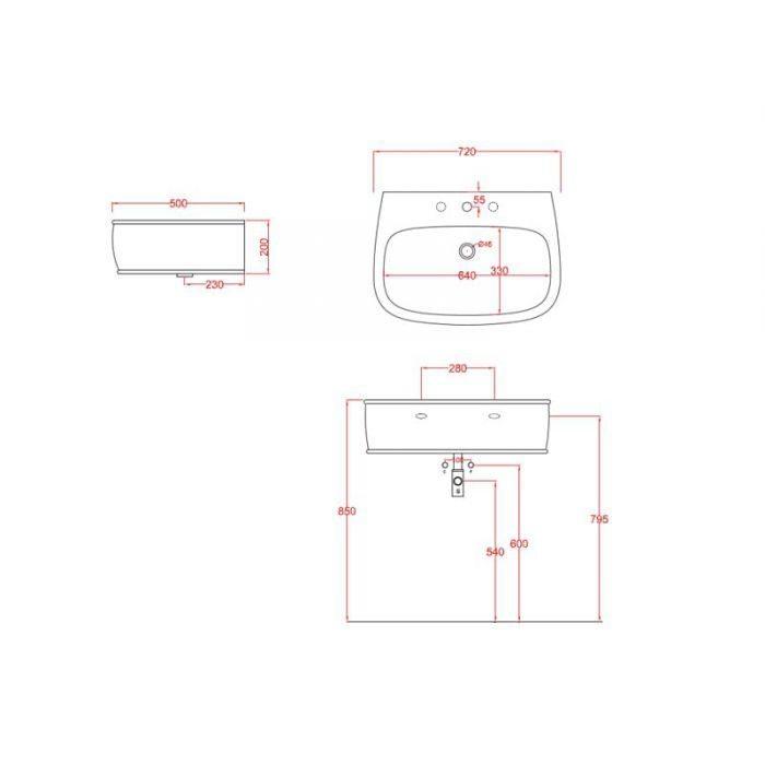 Раковина подвесная\накладная AZULEY ArtCeram  AZL 004 (ит.Bianco)