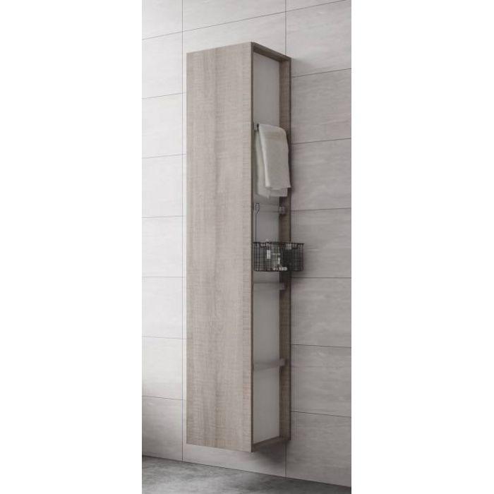 Комплект для ванной Cersanit City 60 см, с Пеналом (цвет серый дуб) Акция