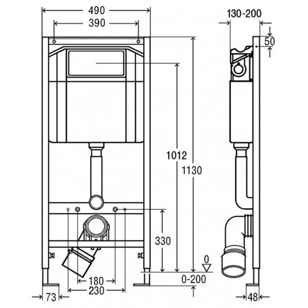 Комплект для установки унитаза Viega 713386