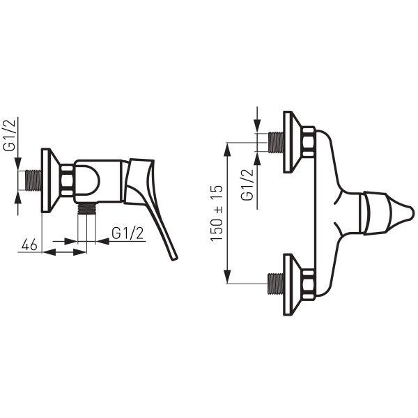 Stillo смеситель для душа настенный без душевого комплекта BSL7