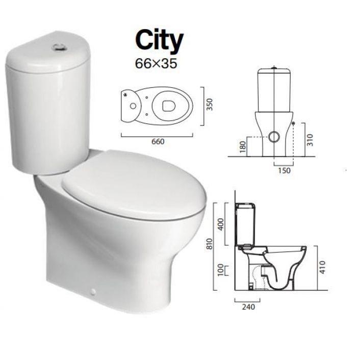 Напольный унитаз с бачком GSI City MCITY1711
