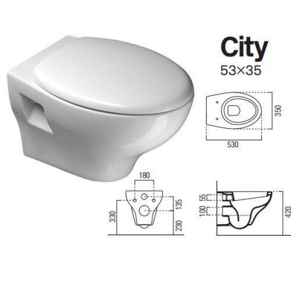 Подвесной унитаз GSI City 53 MCITY1811