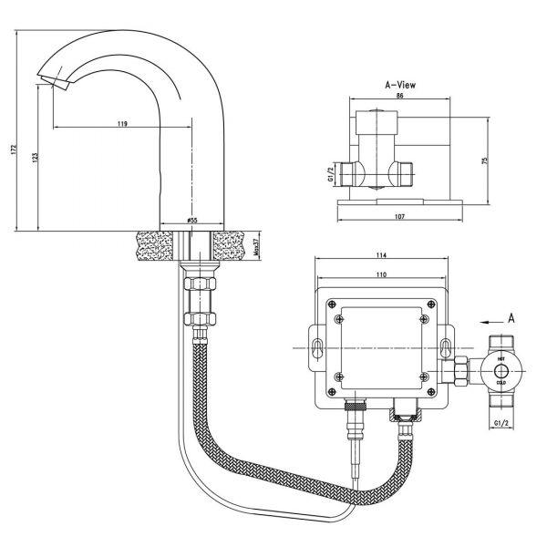 Смеситель Lemark Project LM4652СE для раковины