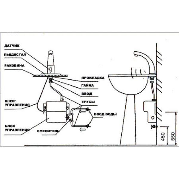 Смеситель сенсорный бесконтактный Ksitex М-2388