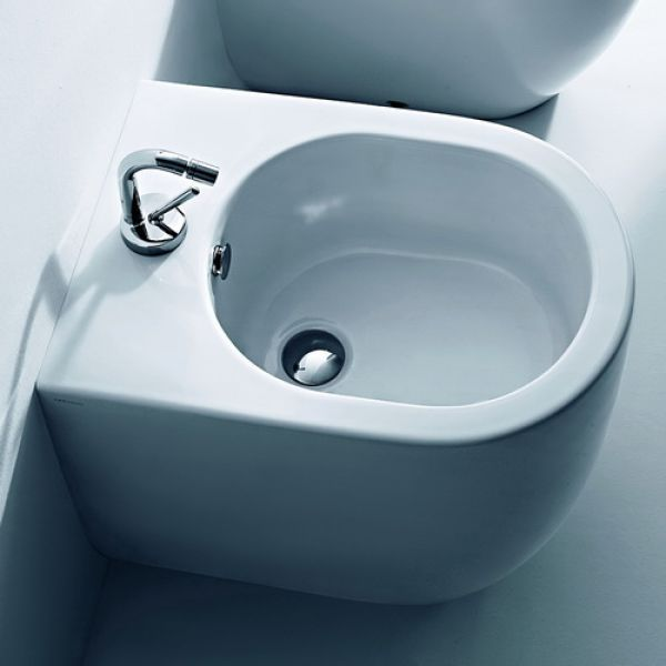 Kerasan Flo биде приставное 52см, с 1 отв. под смеситель, цвет белый