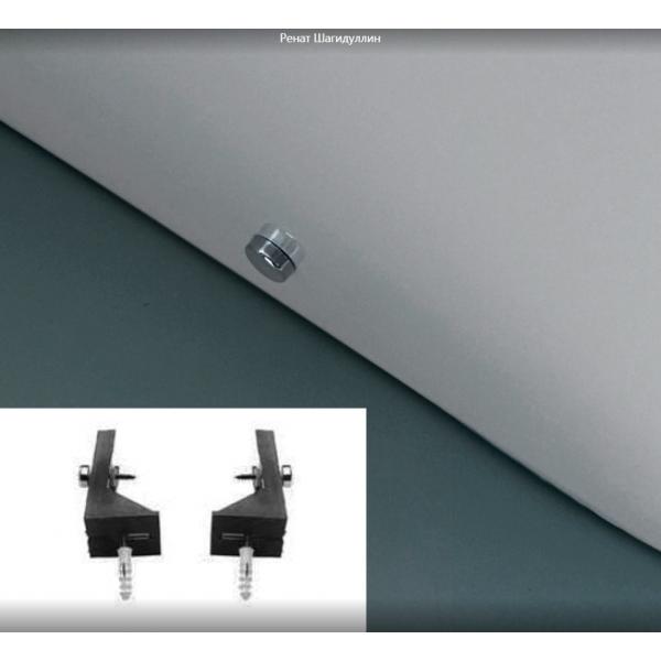 Kerasan Flo биде напольное приставное 56см, с 1 отв. под смеситель, с крепежом Wb5N в комплекте