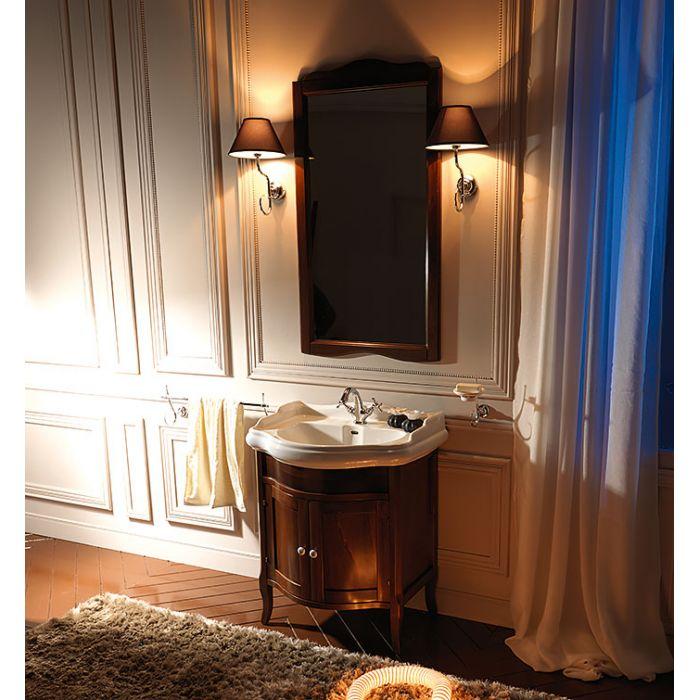 KERASAN Retro Комплект мебели, с закругленным фасадом, 69 см,Цвет: noce