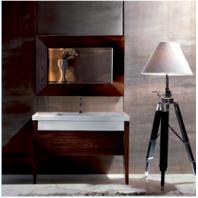KERASAN Bentley Комплект мебели , (раковина без бортика), с ножками и зеркалом, 120см