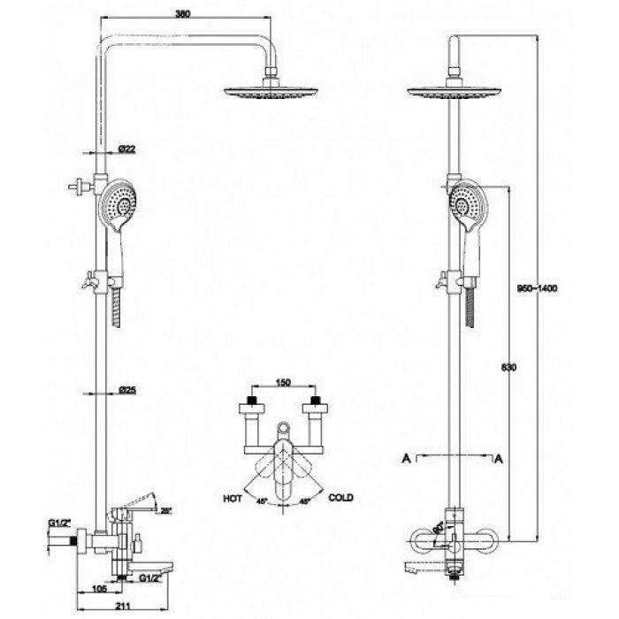 Душевая система KAISER SX2060-3