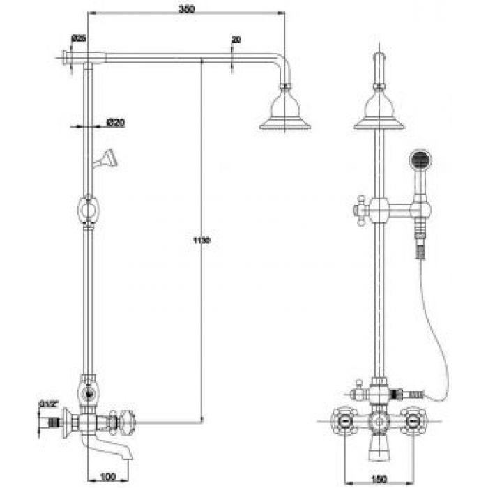Душевая система KAISER SXP-90