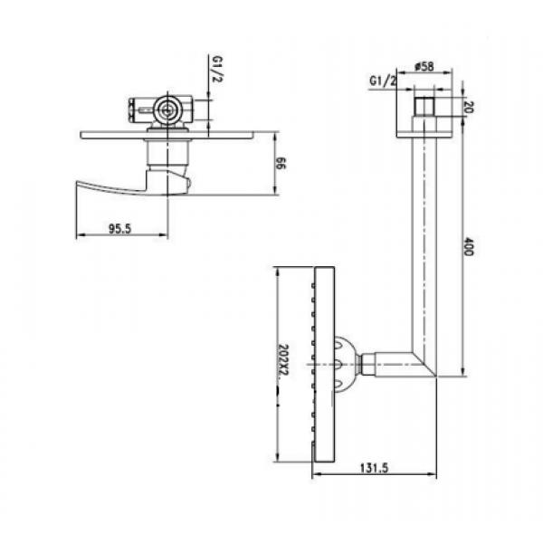 Душевая система Kaiser Sonat 34177-1