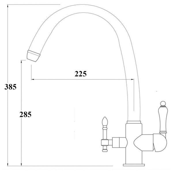 Смеситель KAISER 31145-3
