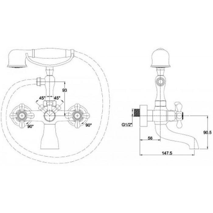 Смеситель KAISER Carlson Style 44223-1