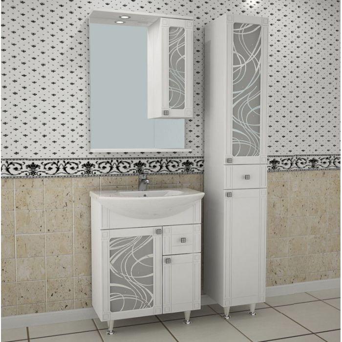 Зеркало-шкаф АСБ Мебель Альфа кристалл 65-1