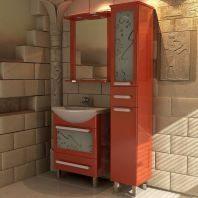 Комплект АСБ Мебель Астра 65 декор красный глянец