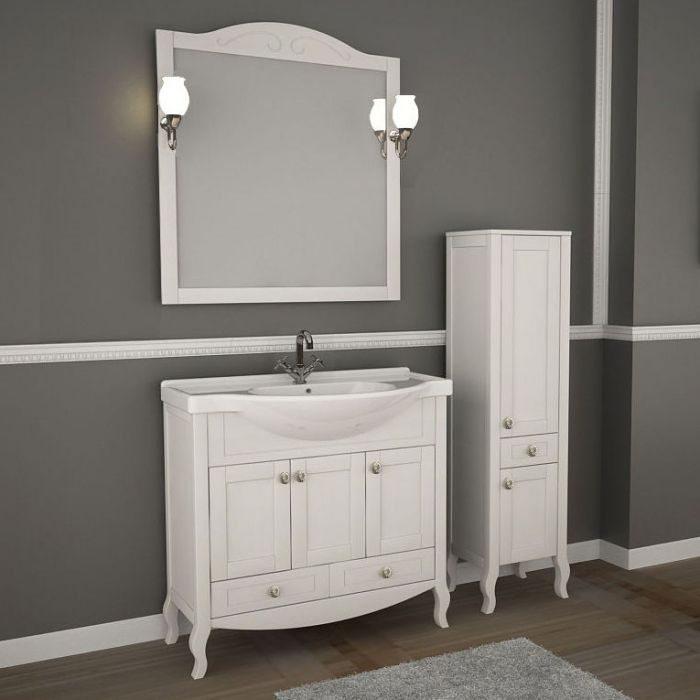 Зеркало АСБ Мебель Флоренция 85 белый патина