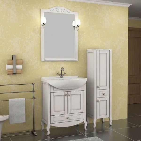 Зеркало АСБ Мебель Флоренция 65 белый патина
