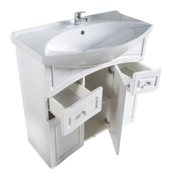 Комплект мебели для ванной АСБ Мебель Лилия лайн 80