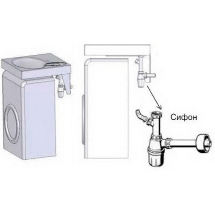 Раковина над стиральной машиной 60х55 см Comfort
