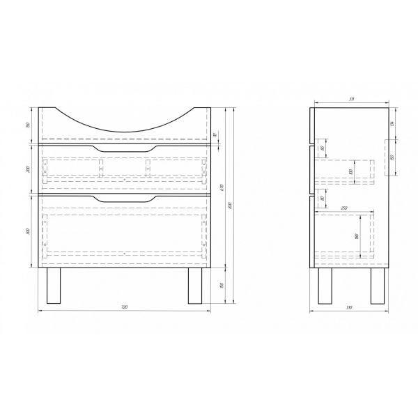 Комплект мебели напольный Dreja.eco Laguna Plus 75