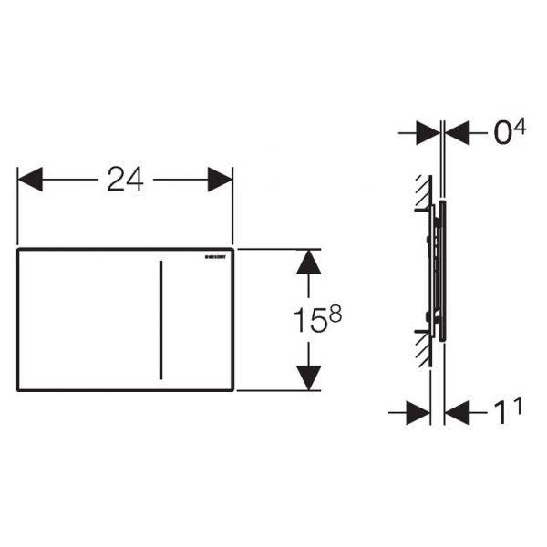 Клавиша смыва Geberit Sigma70, двойной смыв, для бачка Sigma 8 см.,структурированная сталь. 115.625.FW.1