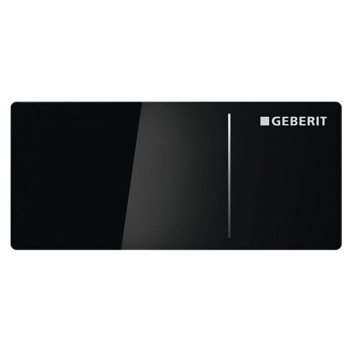 Клавиша смыва Geberit Sigma70 дистанционная, двойной смыв, для бачка Sigma 12 см., черное стекло