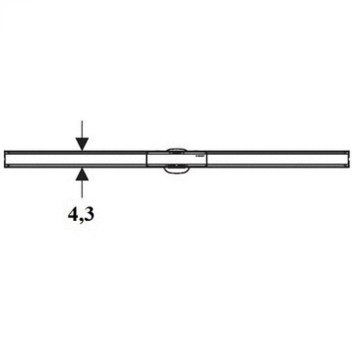 Крышка душевого канала CleanLine 60 (вровень с полом):  30-90 cм,  тёмный /потёртый металл 154.456.00.1