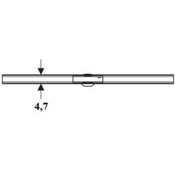 Крышка душевого канала CleanLine 60 (для тонкой плитки):  30-90 cм 154.458.00.1