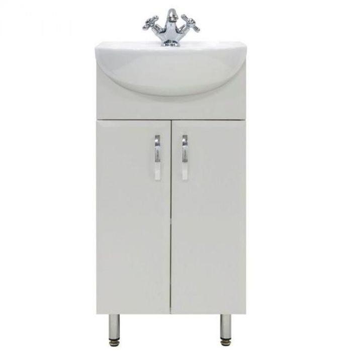 Тумба для ванной с раковиной Манго 40 (цвет белый)