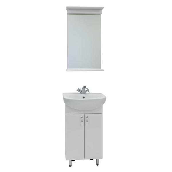 Комплект мебели для ванной комнаты Модерн 50 (цвет белый)