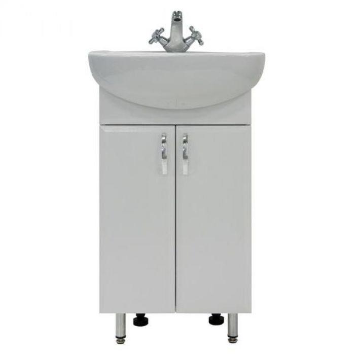 Тумба для ванной с раковиной Модерн 50 (цвет белый)